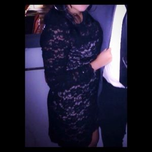 Express black lace dress wore once